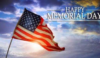 Memorial Day ~ Monday May 30, 2016