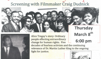 "Screening of ""Alice's Ordinary People"" with filmmaker Craig Dudnick Thursday, March 19th at 6:00PM"