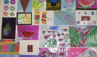 Student artwork is on display through the end of May